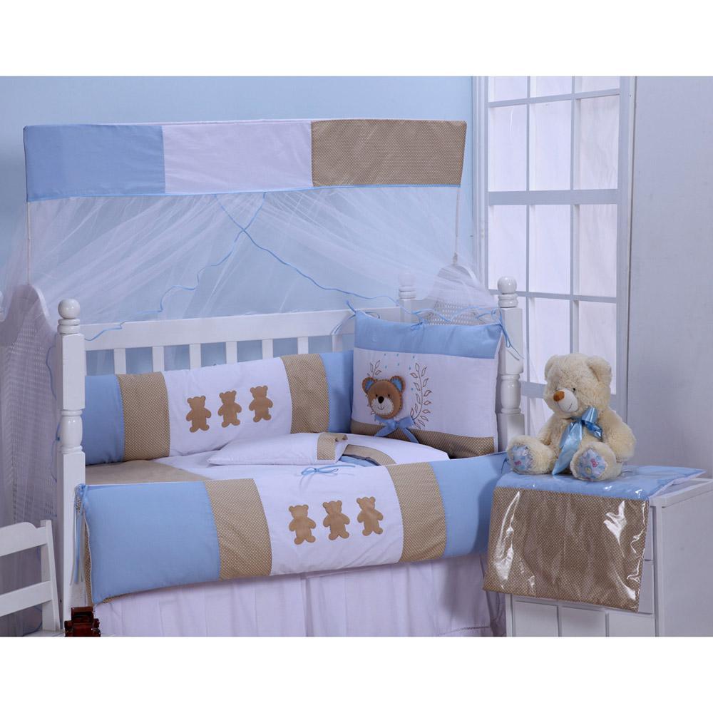 37d99eeb24 → Kit para Berço Ursinho Luxo Azul 9 Peças Zany Baby é bom  Vale a ...