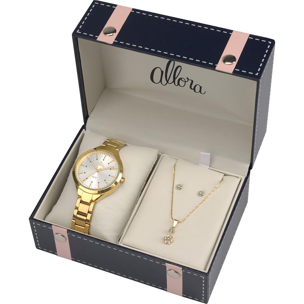 Kit Relógio Feminino Allora Analógico Casual Al2035falk4k é bom  Vale a  pena  46d8d110cc