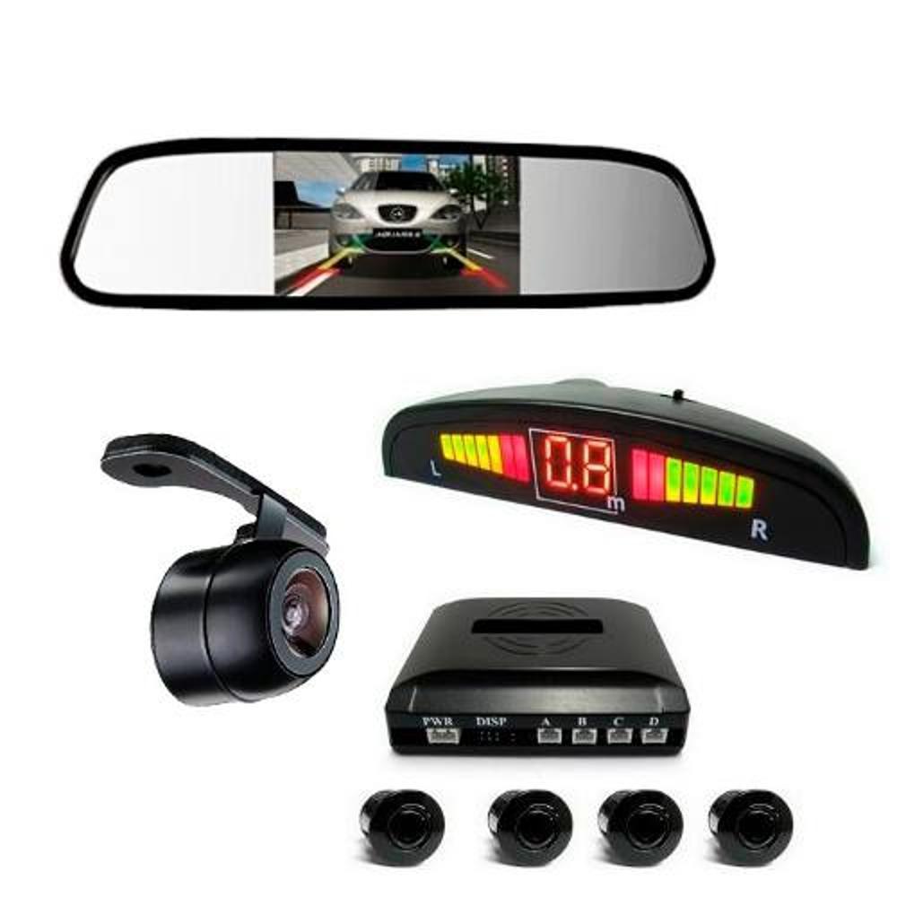 3c92da0bb Kit Sensor De Estacionamento Câmera De Ré Espelho Retrovisor Preto é bom   Vale a pena