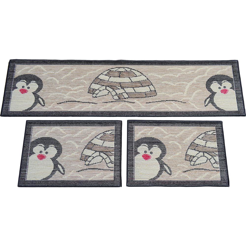 8c02a67de Kit Tapetes para Cozinha Sisal Look Pinguim 3 Peças - Rayza é bom  Vale a