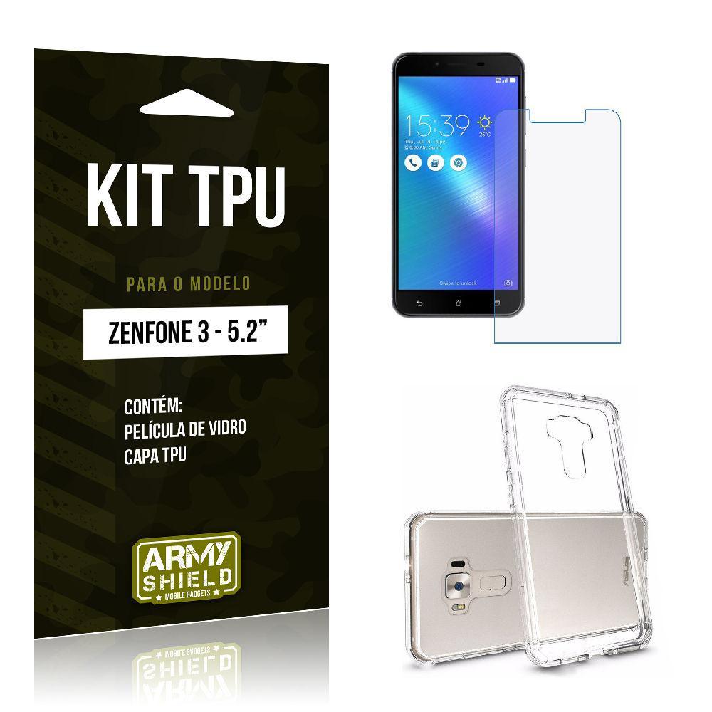 947637fae Kit Tpu Asus Zenfone 3/5.2 Ze520kl Capa Tpu + Película De Vidro -Armyshield  é bom? Vale a pena?