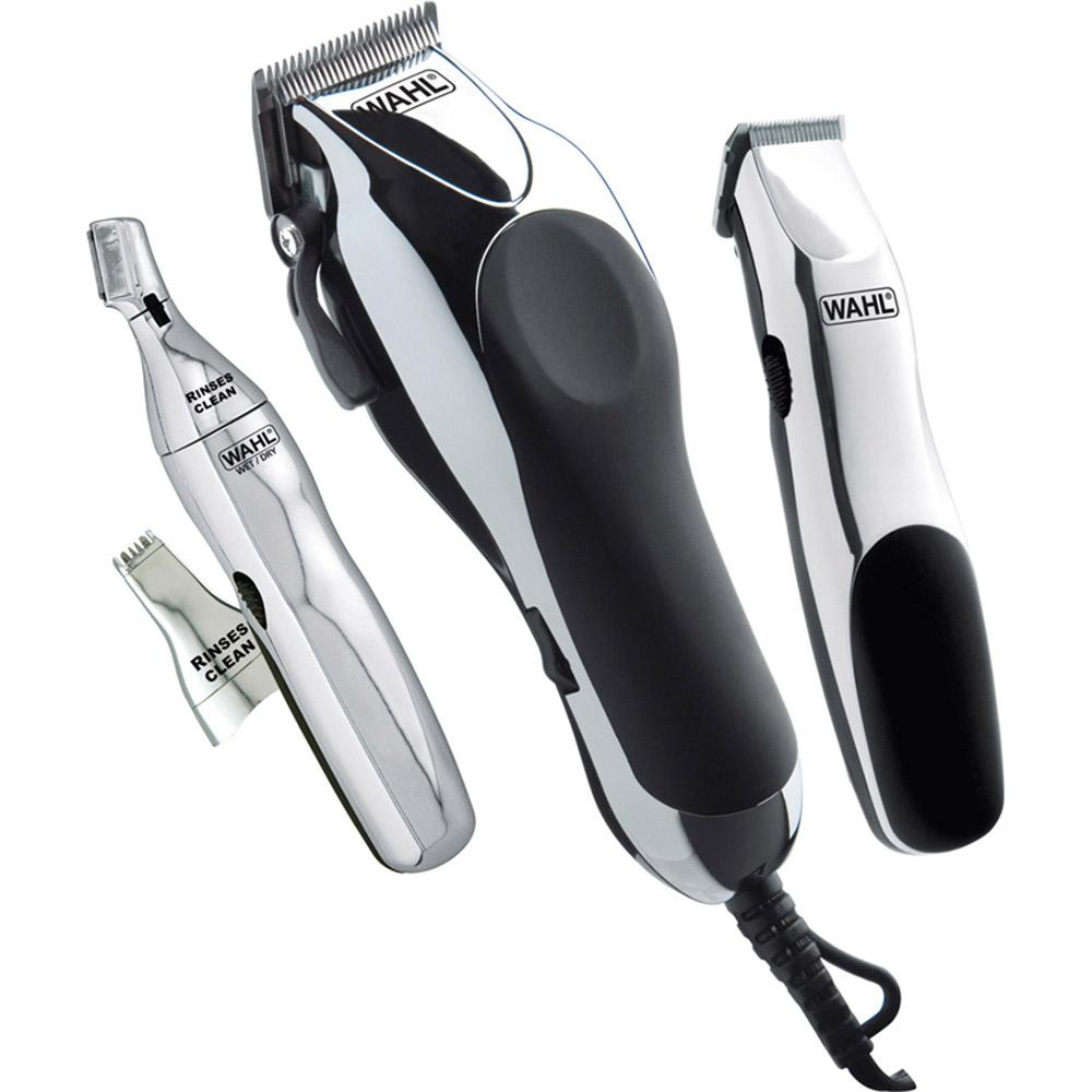 Máquina De Cortar Cabelo Aparador De Barba Aparador De Nariz E Orelha Acessórios Home Barber Kit Wahl Clipper
