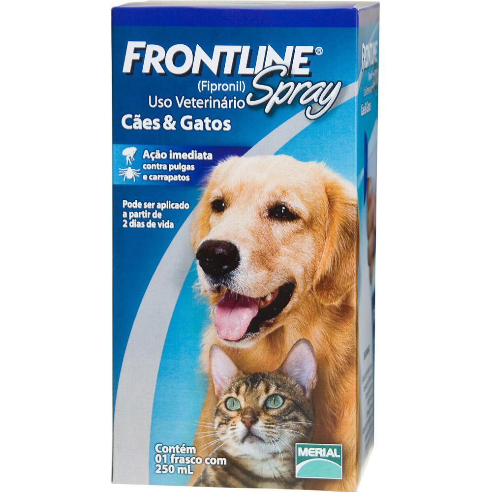 1a23500ce4 Medicamento Antipulgas e Carrapatos p  cães e gatos Spray 250ml - Frontline  é bom