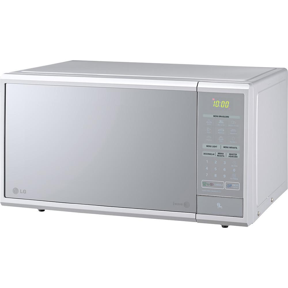 088513ef5 Micro-ondas LG Ms3059L 30 Litros Prata Frente Espelhada é bom  Vale a pena