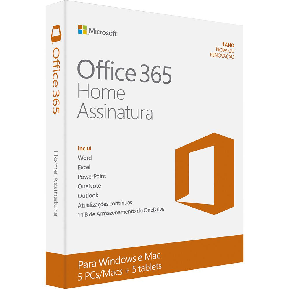 0870b675d → Microsoft Office 365 Home  5 Licenças (PC