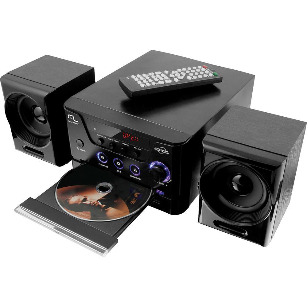 0c855ce007e Mini System com DVD Multilaser SP141 20W Rádio FM USB é bom  Vale a pena