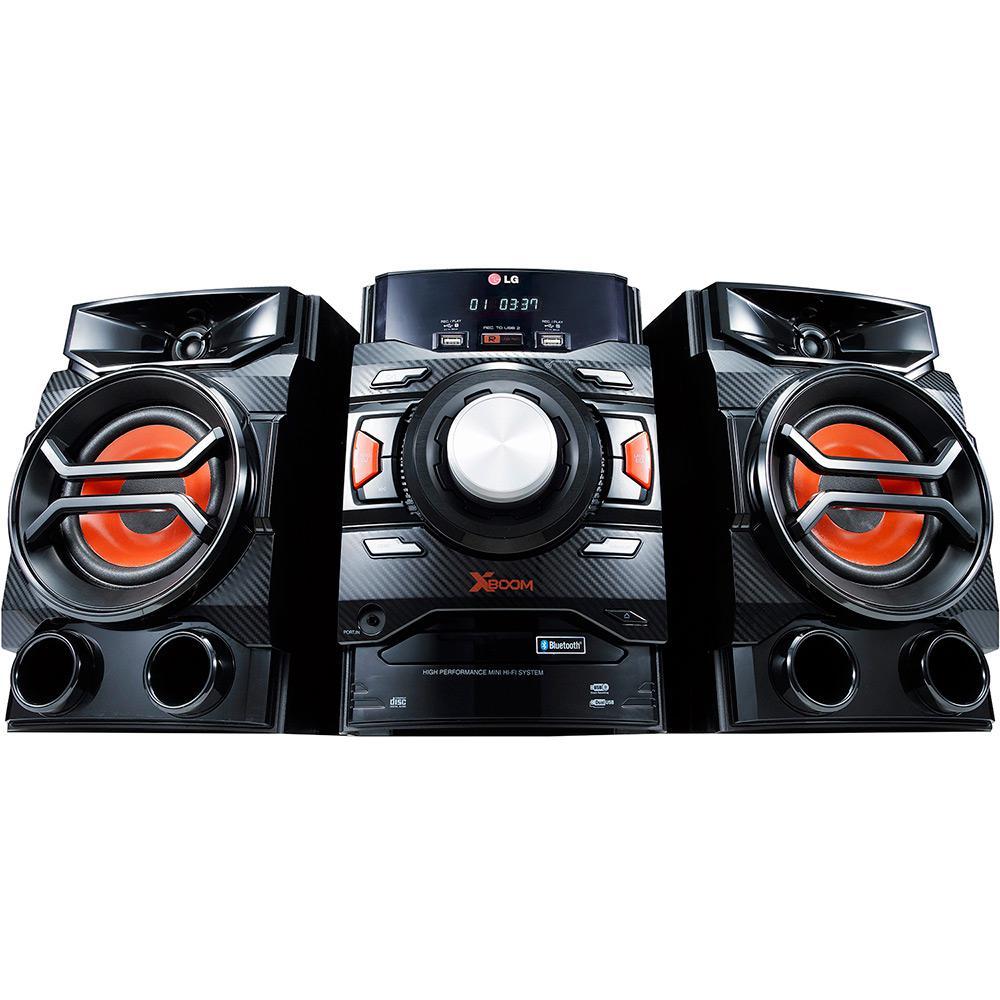 de11fcb28c8 Mini System LG CM4350 Preto Bluetooth com CD Player Rádio AM FM USB MP3 -