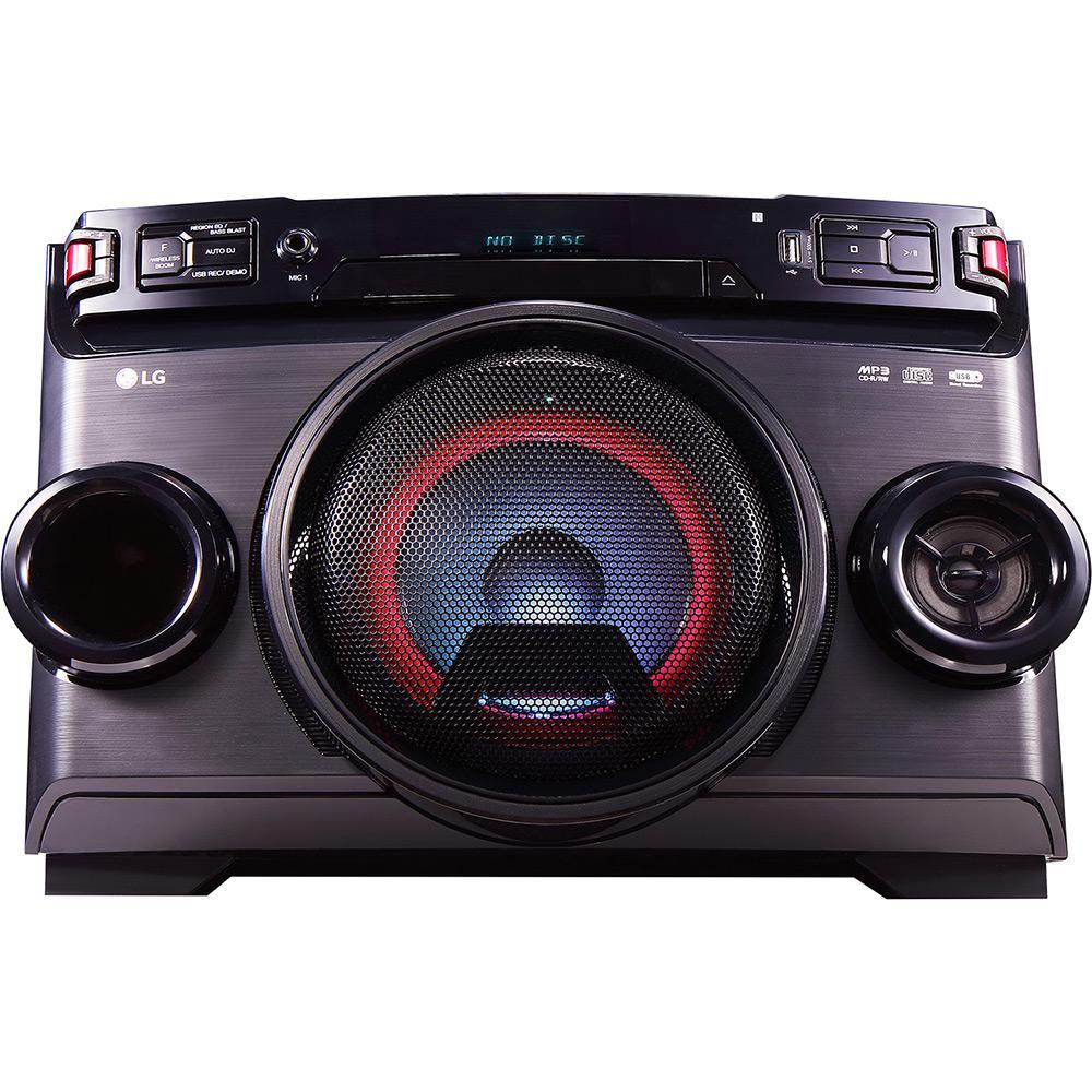 52d6a812f8b Mini System LG Om4560 Preto Torre 200w CD Player Rádio FM Bluetooth USB +  MP3