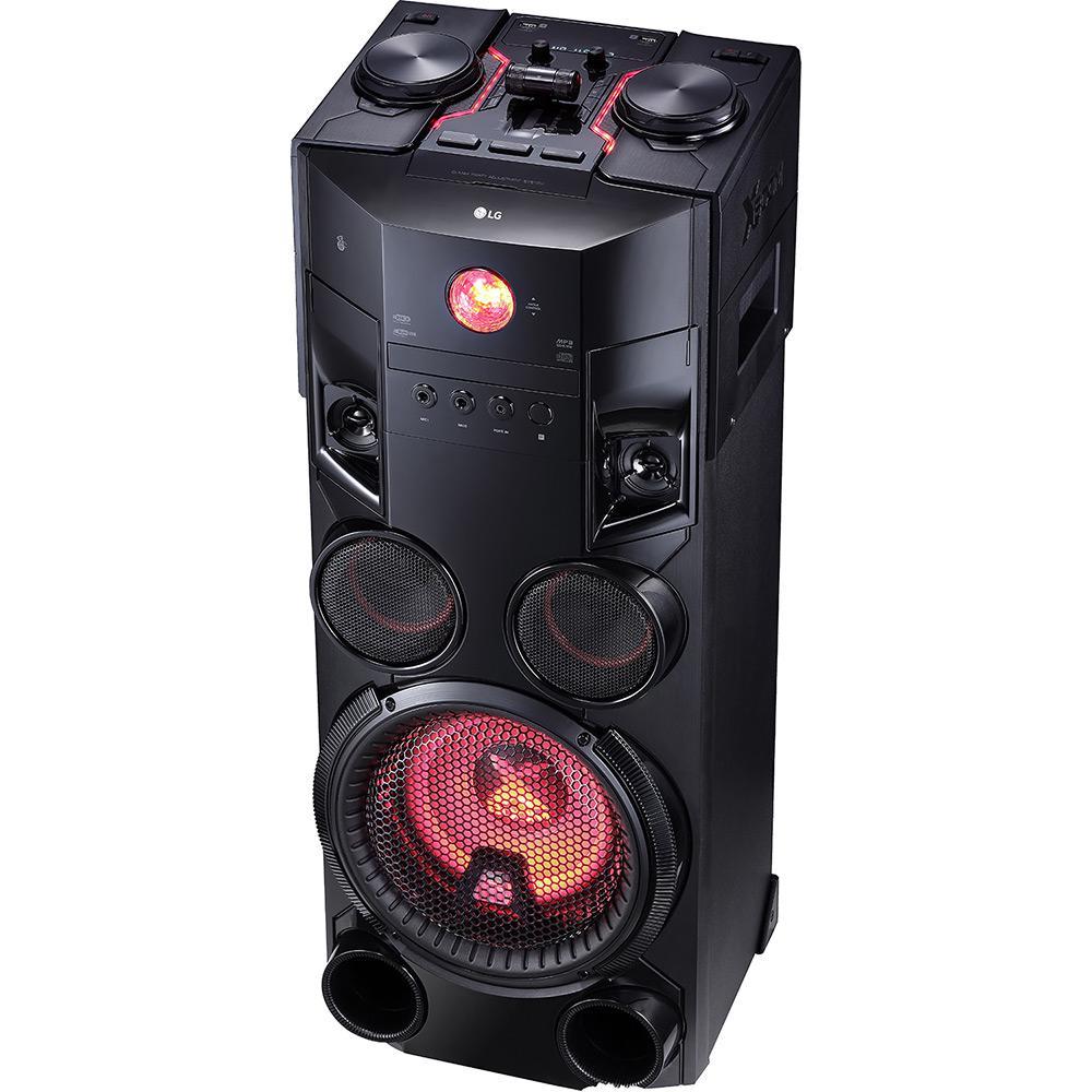 05c1363a0c7 Mini System LG Om7560 Preto Torre 1000w CD Player Rádio AM FM Bluetooth USB