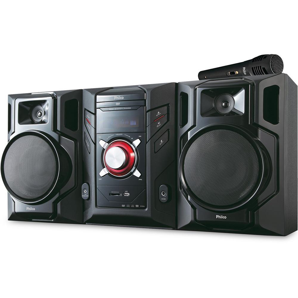 7944fff4f76 Mini System Philco 600W RMS c  DVD Rádio MP3 USB SD Karaokê PH 650 é bom   Vale a pena