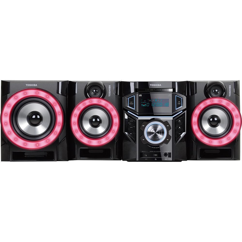 d084f98bbe4 Mini System SempToshiba MS 9090 Preto CD Player Rádio FM USB MP3 - 900W é  bom