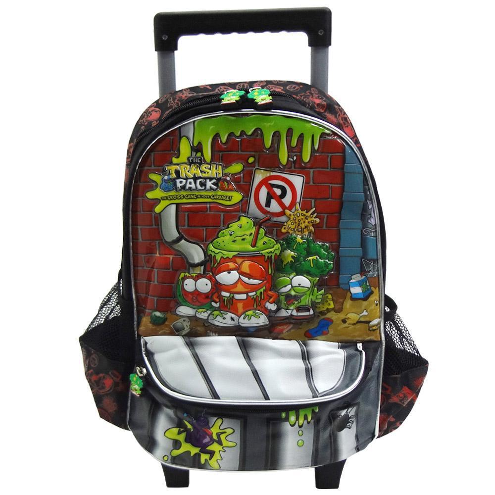 c198fb4cbd Mochila Carrinho Trash Pack Mala De Rodinha Infantil Escolar Preta - Mix8  575794 é bom