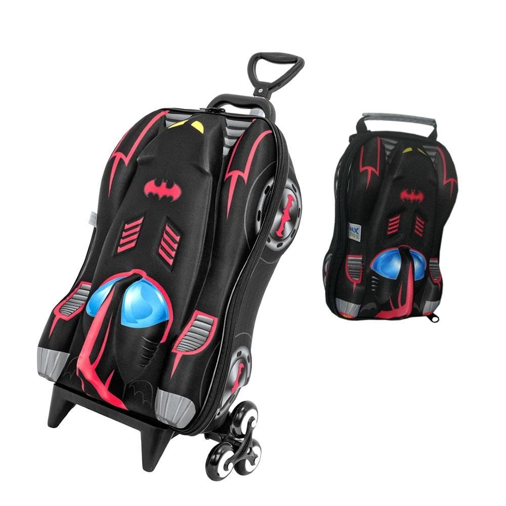 8de9fb875 Mochila Escolar Batman Lancheira Mochilete Baú 3d Preta Com Vermelho -  2805m01/2805x01 Dpl8 é