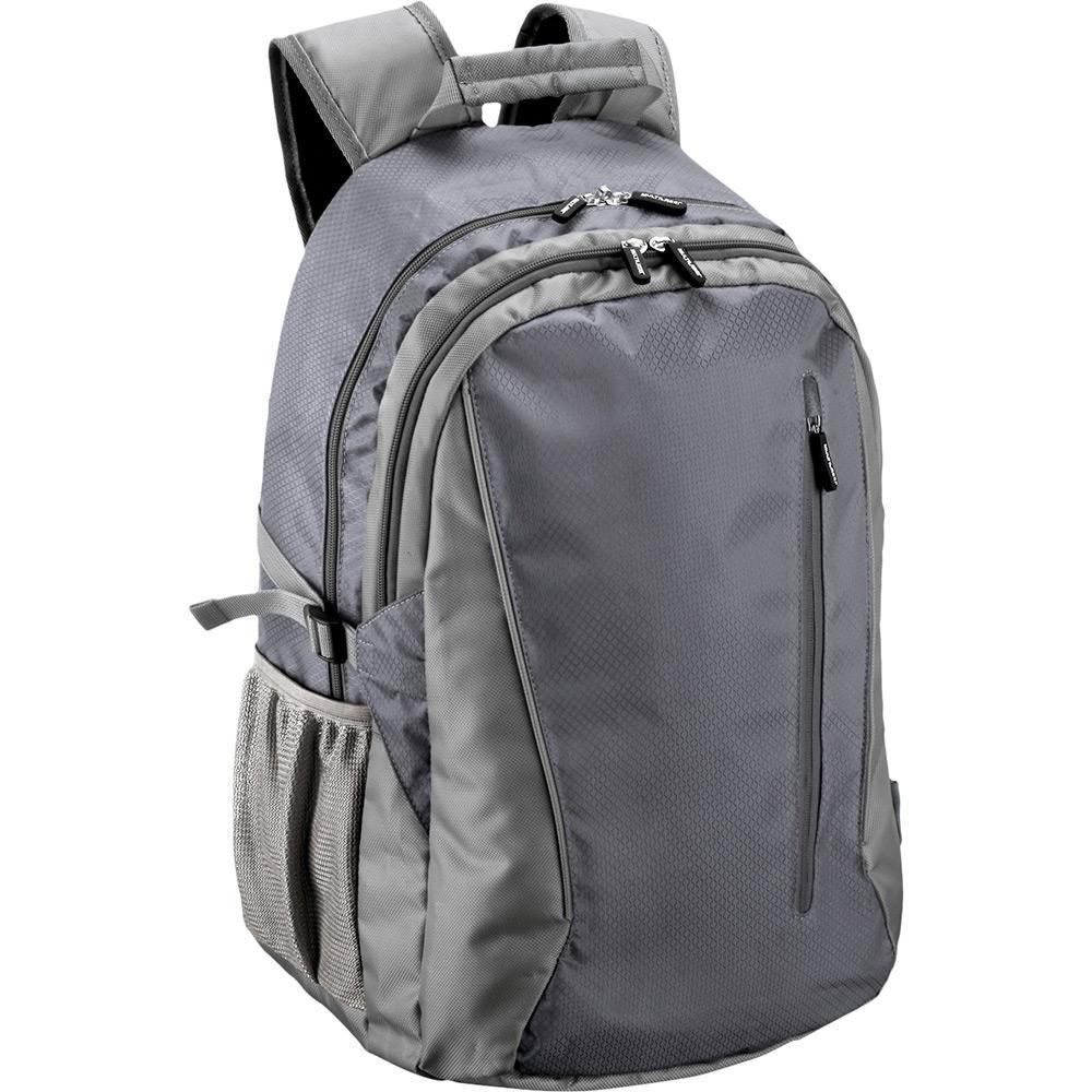 32de90e3a Mochila para Notebook Multilaser Jacquard Duplo Nylon Cinza - Até 15,6  Polegadas é bom