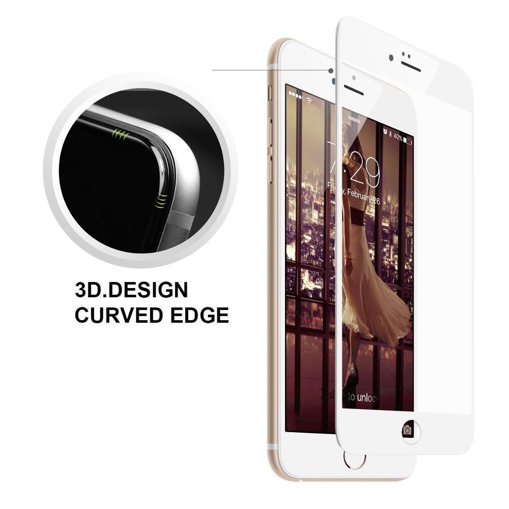 6a61494d2 Película De Vidro Premium Com Bordas 3d Para Apple Iphone Iphone 6/ 6s (4.7