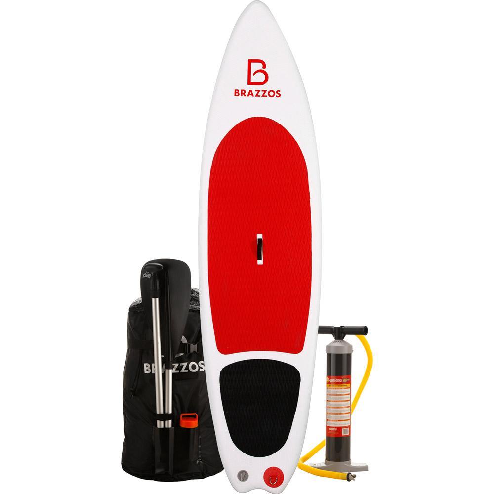 dd135add0 Prancha de Stand Up Paddle Inflável Brazzos Modelo SS 9 6 pés Vermelho e  Preto é bom  Vale a pena