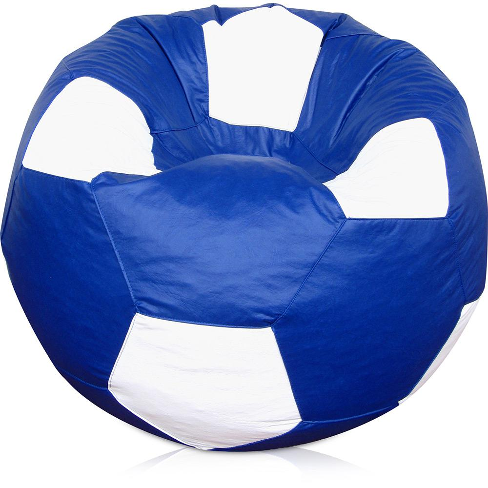 e4a0fb65dd Puff Bola Super Courino Azul Royal Branco - Phoenix Puff é bom  Vale a