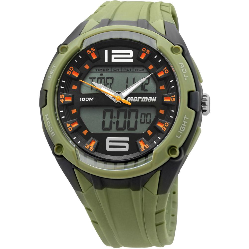 9b8fadb135d Relógio Mormaii Masculino Esportivo Verde Musgo AD0980 8U é bom  Vale a pena