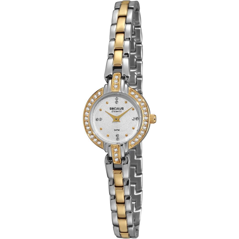 5d8f860f9dd Relógio Seculus Feminino Social Prata com Dourado - 48074LPSTBA2 é bom?  Vale a pena?