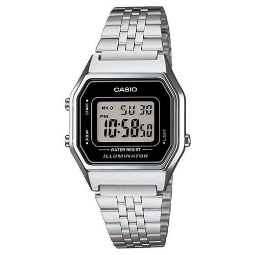 713ad27a137 Relógio Feminino Digital Casio Vintage LA680WA-1DF - Prata é bom  Vale a  pena