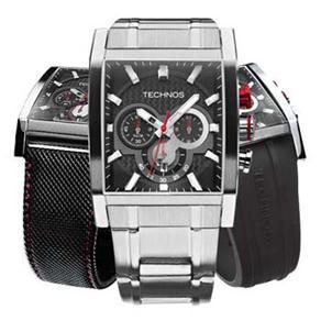 c80327551ec Relógio Troca Pulseira Masculino Analógico Technos Sports OS2AAF 1P - Prata  é bom  Vale