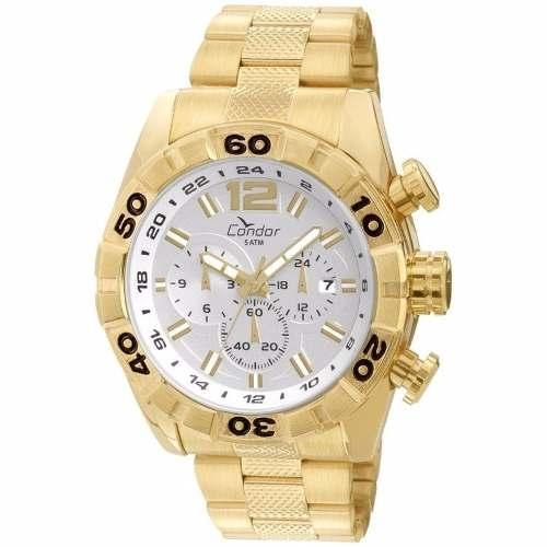 3dea2bde523 Relógio Condor Masculino Dourado Analógico Covd33aa 4k é bom  Vale a pena