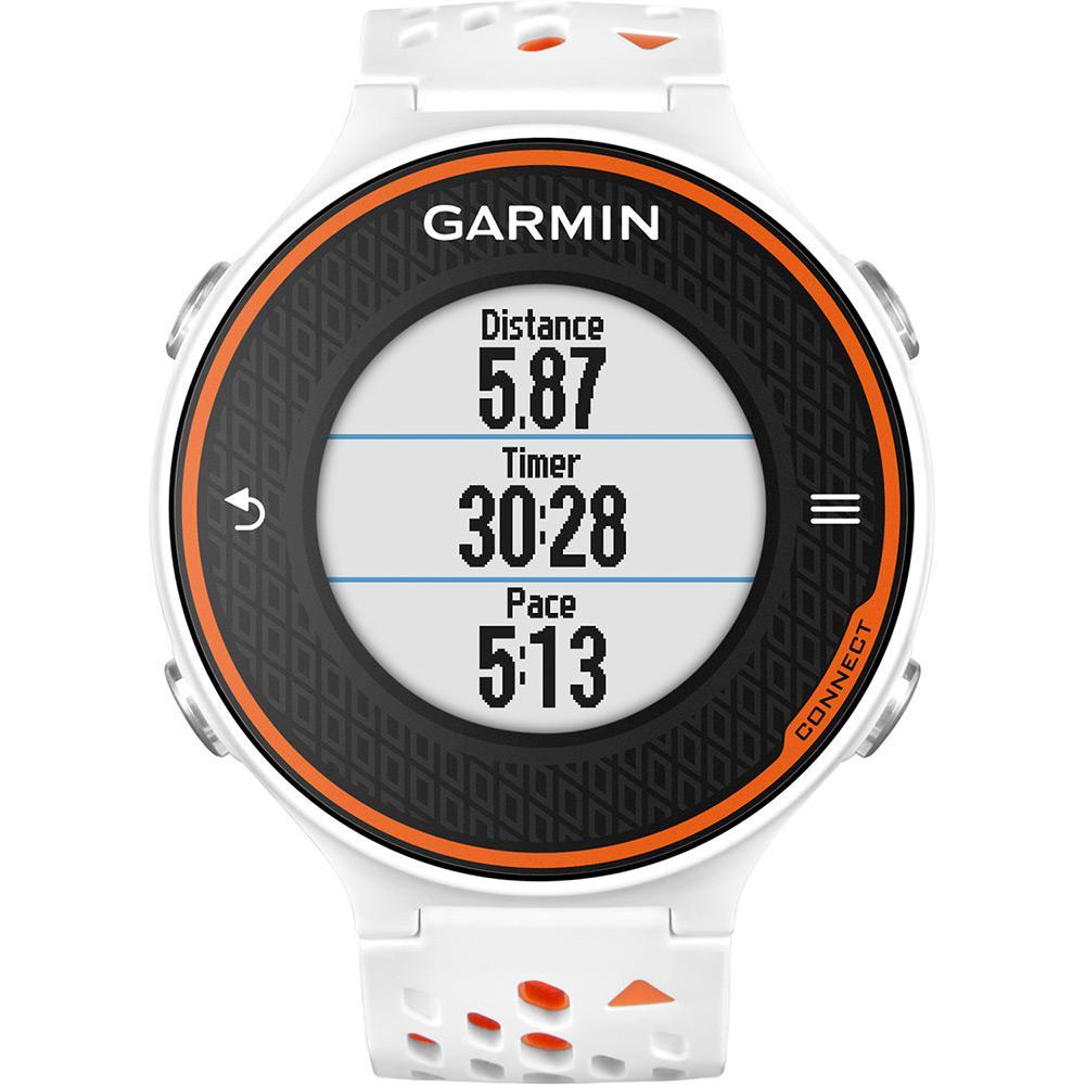 2036c20f656 Relógio de Corrida Feminino Garmin Forerunner 620 com GPS e Medidor de  Distância Branco Laranja é bom  Vale a pena