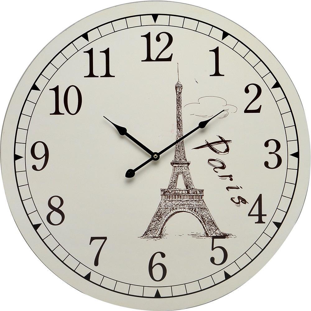 873d8e1ba13 → Relógio de Parede Espressione Analógico Branco é bom  Vale a pena