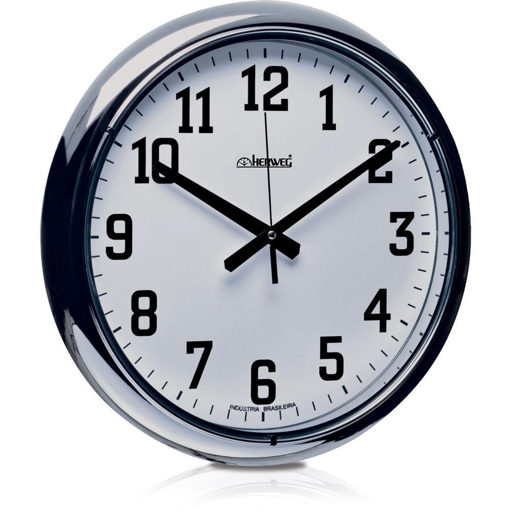 725067a9744 → Relógio de Parede Quartz Cromado - Herweg é bom  Vale a pena