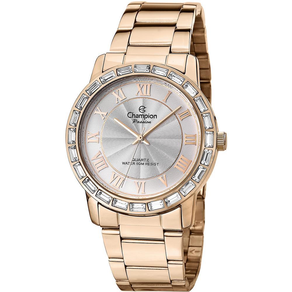 8955ebf3dc7 → Relógio Feminino Champion Rosê Fashion Cn28857z é bom  Vale a pena