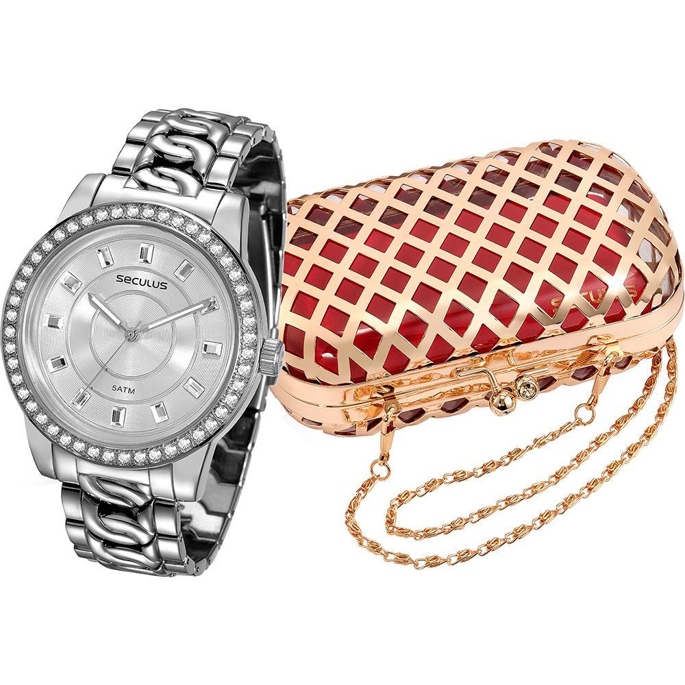 1b77bcfd34d Relógio Feminino Seculus Analógico Fashion 20235l0svnb2k1 + Bolsa é bom   Vale a pena