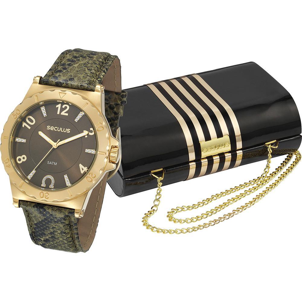 fc9a4f76011 Relógio Feminino Seculus Analógico Social 20124lpscdr3k1 + Bolsa é bom   Vale a pena