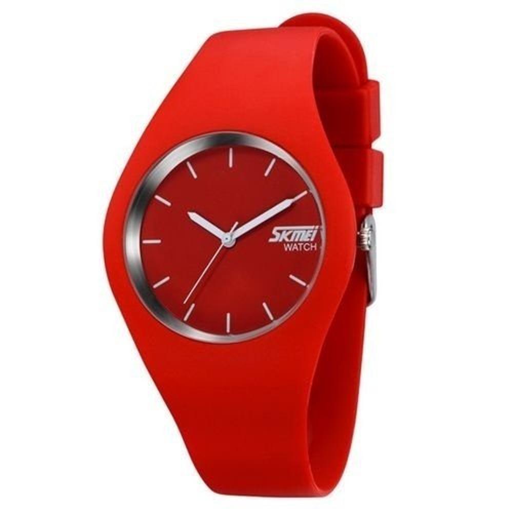 504d6aab20c → Relógio Feminino Skmei Analógico 9068 Vermelho É BOM  VALE A PENA