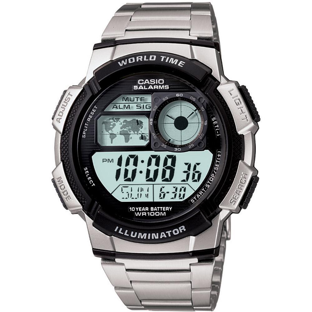 0667046d4d6 Relógio Masculino Casio Esportivo Hora Muldial 48 Cidades AE-1000WD-1AVDF é  bom  Vale a pena