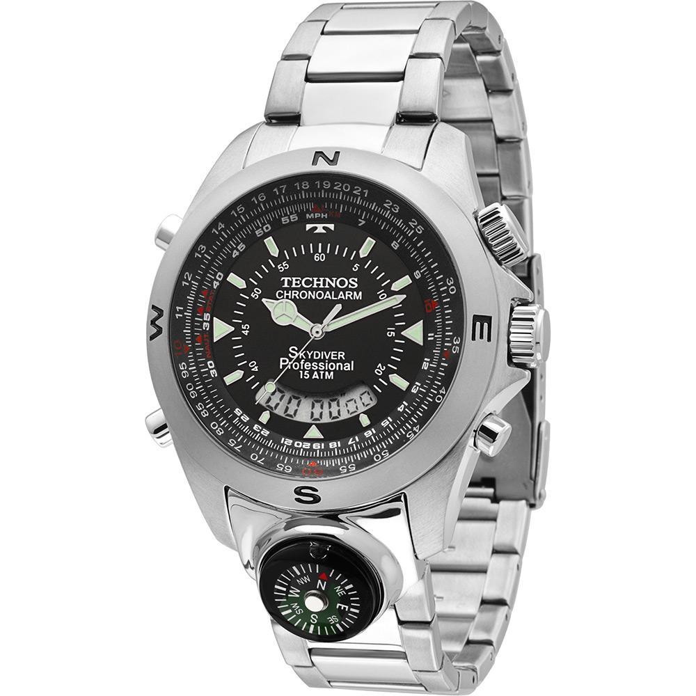 e7ecb11816f → Relógio Masculino Technos Anadigi Casual T20566 1P é bom  Vale a ...