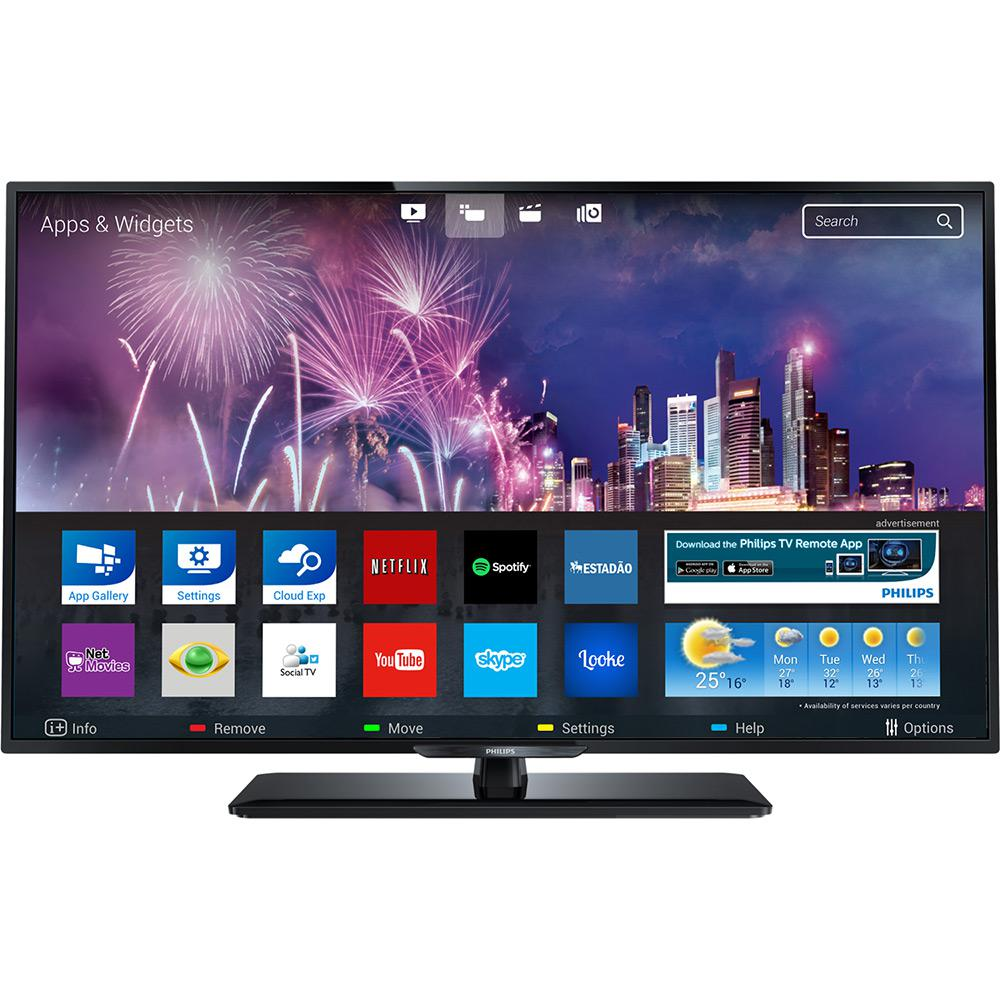0cd1e3b51 Smart TV LED 43   Philips 43PFG5100 Full HD com Conversor Digital 3 HDMI 1  USB Wi-Fi 120Hz é bom  Vale a pena