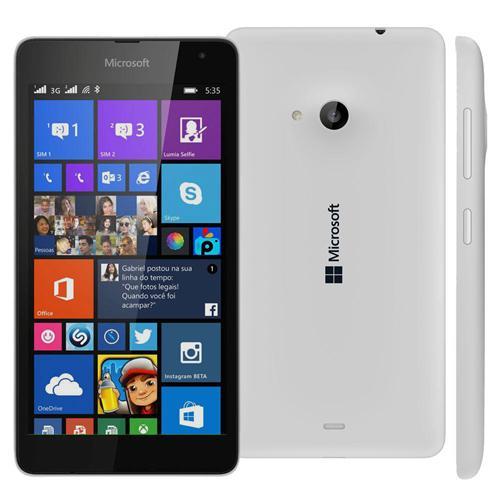 """974408415e3 Smartphone Microsoft Lumia 535 Branco com Dual Chip, Windows Phone 8.1,  Tela de 5"""", Câm. 5MP, 3G, Bluetooth e Processador QuadCore de 1.2GHz é bom?"""