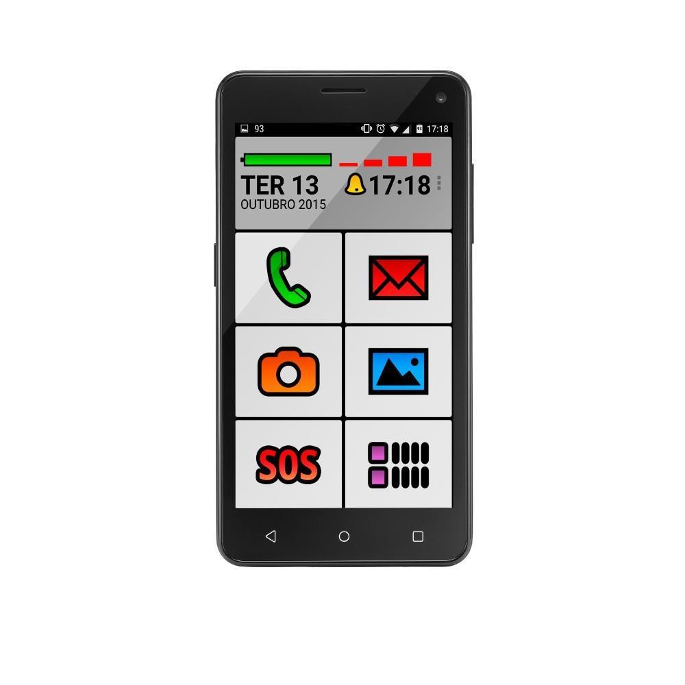647617a550 Smartphone Multilaser P9015 Ms50 Senior Phone Quadcore Dual Chip Android  Lollipop 5 Preto é bom  Vale a pena