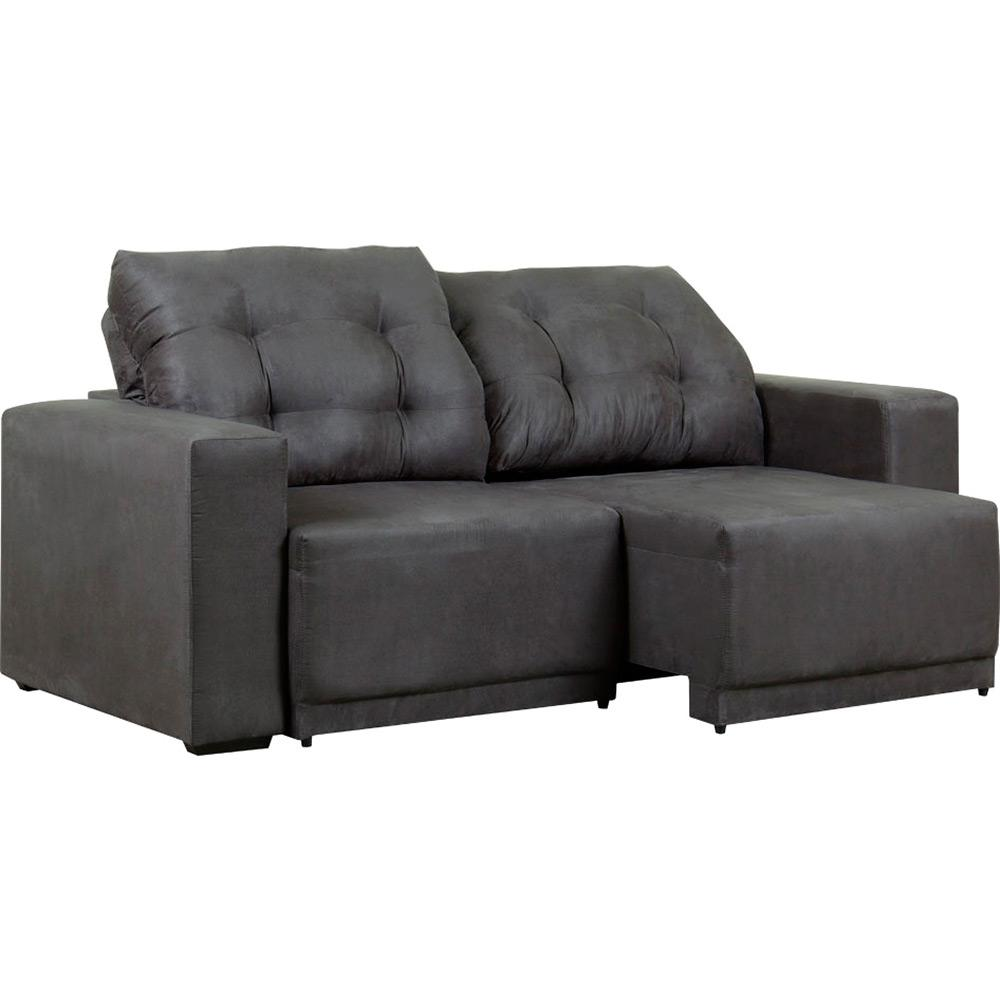 Tremendous Sofa 3 Lugares Austria Retratil E Reclinavel 1323 Suede Liso Cinza At Home Machost Co Dining Chair Design Ideas Machostcouk