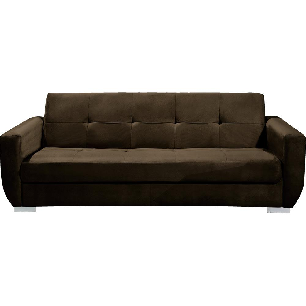 Sof cama 3 lugares amsterd suede marrom pelmex bom for Cuanto vale un sofa cama