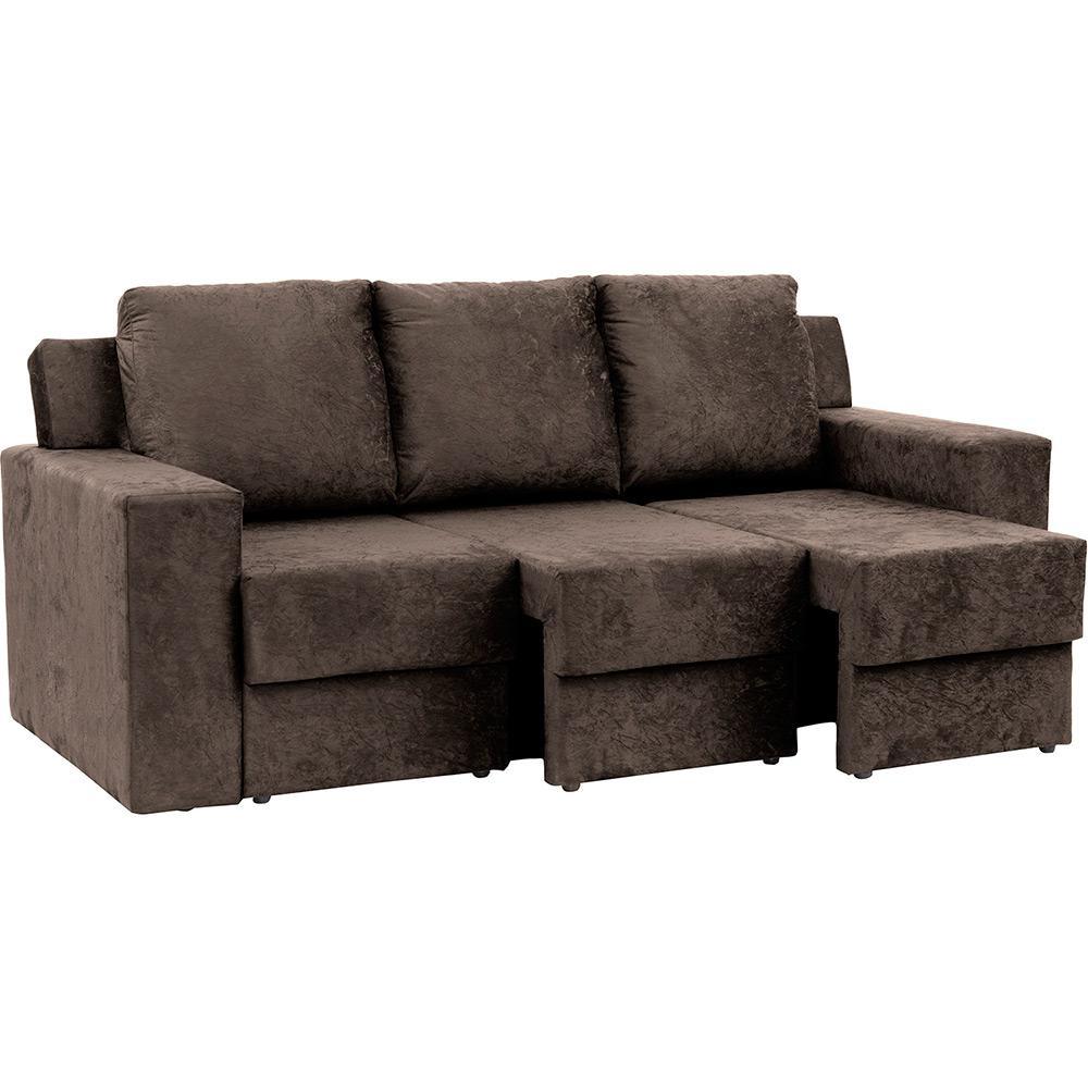 Prime Sofa 3 Lugares Com Assento Retratil Atlantis Ultrasuede Amassado Marrom At Home Machost Co Dining Chair Design Ideas Machostcouk