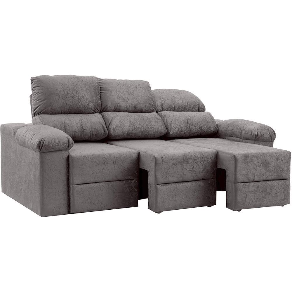 Sof 3 lugares reclin vel e assento retr til ripley plus for Sofa 03 lugares retratil e reclinavel
