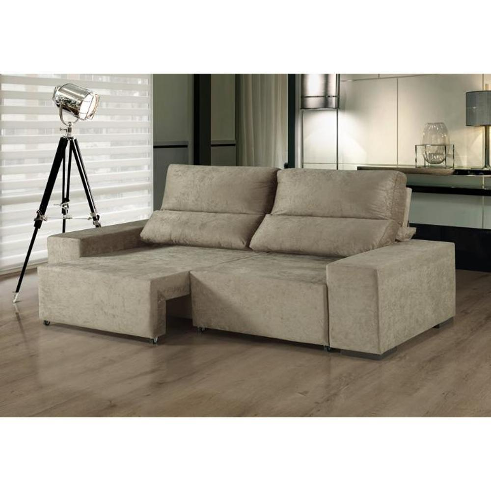 Incredible Sofa Retratil E Reclinavel 3 Lugares Aconchego Siena Moveis Canela Machost Co Dining Chair Design Ideas Machostcouk