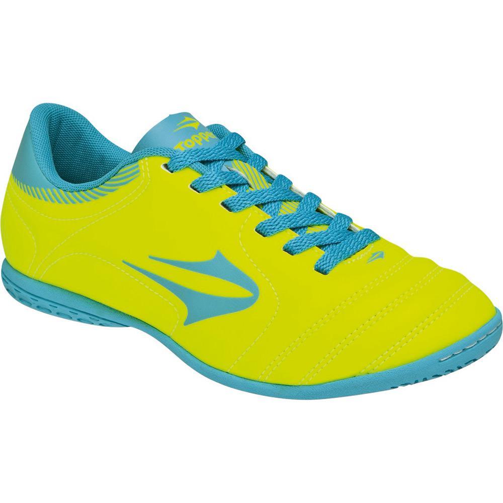 67f986d34a → Tênis Topper Indoor Slick Verde Neon Azul é bom  Vale a pena