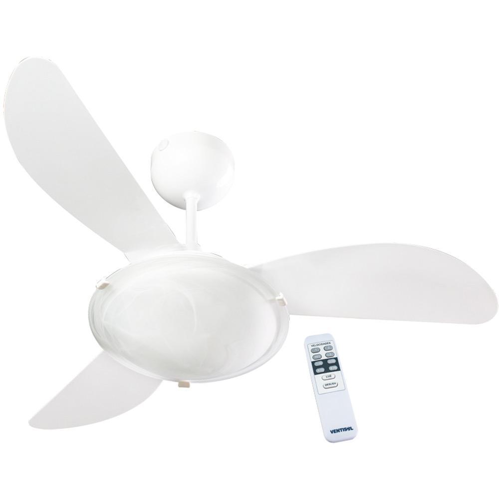 d3cd67caa Ventilador de Teto Ventisol Sunny Premium Branco 3 Velocidades com Controle  Remoto é bom  Vale a pena
