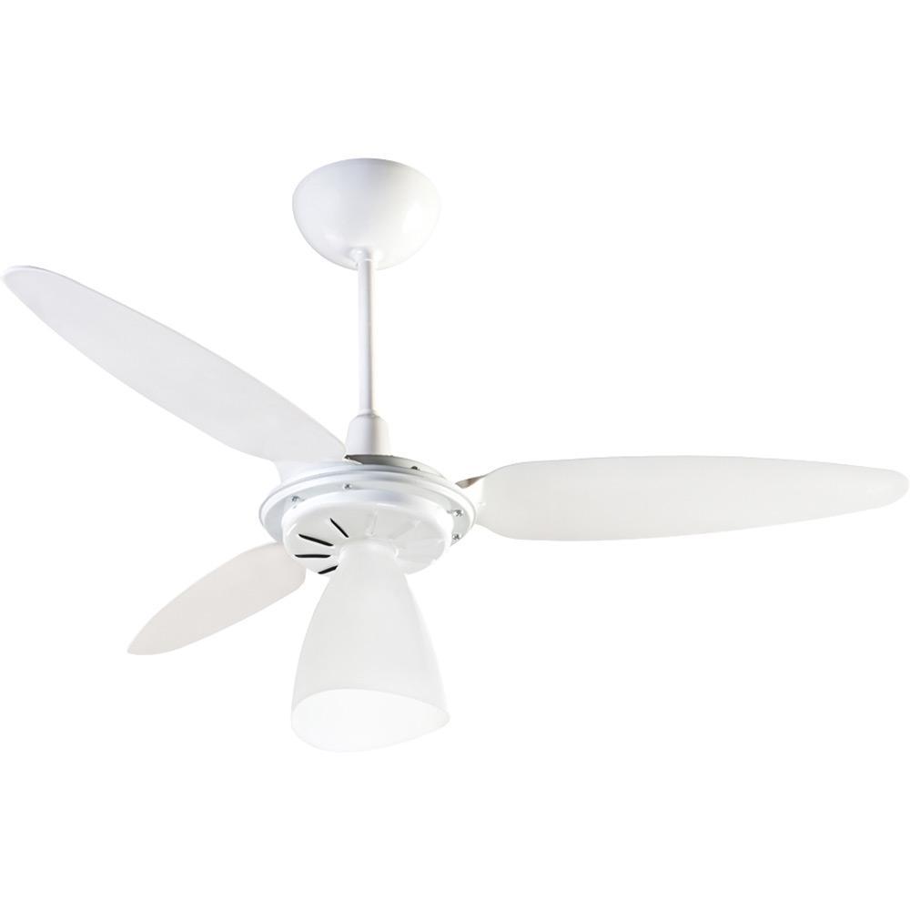 7de3ac8e2 Ventilador de Teto Ventisol Wind Light Branco 3 Velocidades Super Econômico  - 110V ou 220V é